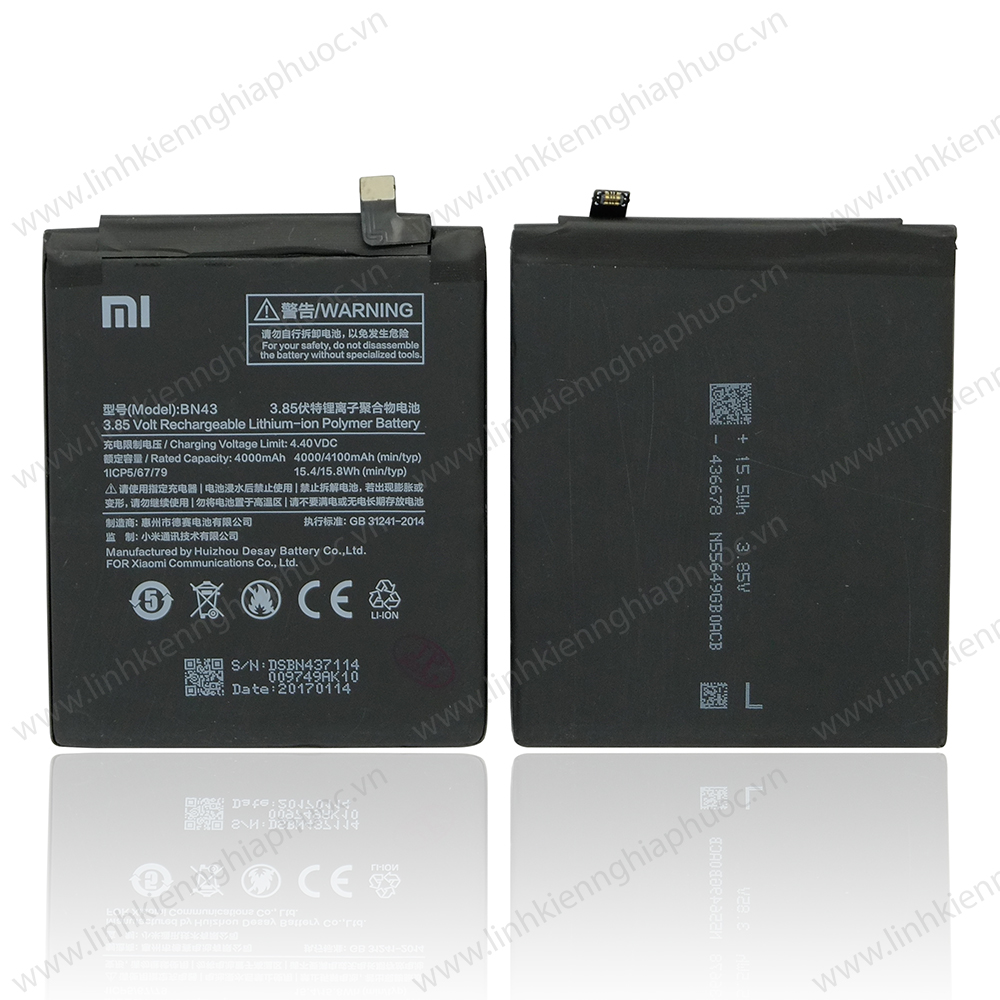 Pin Xiaomi Redmi Note 4x / BN43 (4000/4100 mAh)