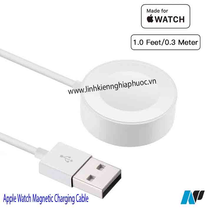 Cáp sạc Apple Watch Magnetic Charging Cable 0.3m (series 1/2/3)